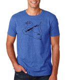 "Guitar seabird Mens T Shirts Black-T Shirts-Gildan-Heather Royal-S To Fit Chest 36-38"" (91-96cm)-Daataadirect"