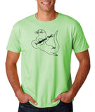"Guitar seabird Mens T Shirts Black-T Shirts-Gildan-Mint Green-S To Fit Chest 36-38"" (91-96cm)-Daataadirect"