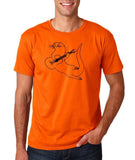 "Guitar seabird Mens T Shirts Black-T Shirts-Gildan-Orange-S To Fit Chest 36-38"" (91-96cm)-Daataadirect"