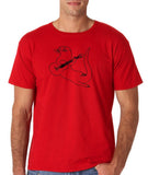 "Guitar seabird Mens T Shirts Black-T Shirts-Gildan-Red-S To Fit Chest 36-38"" (91-96cm)-Daataadirect"