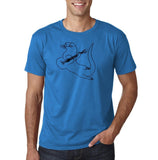 "Guitar seabird Mens T Shirts Black-T Shirts-Gildan-Sapphire-S To Fit Chest 36-38"" (91-96cm)-Daataadirect"