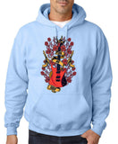 Guns And Roses Guitar Men Hoodies-Gildan-Daataadirect.co.uk