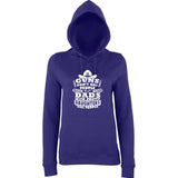 "Guns Don,t Kill Dads With Pretty Daughters Kill People Women Hoodies White-Hoodies-AWD-Purple-XS UK 8 Euro 32 Bust 30""-Daataadirect"