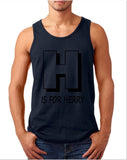 "[daataadirect.co.uk]-H For Herry Men Tank Top Black-Tank Tops-Gildan-Navy-S To Fit Chest 36-38"" (91-96cm)-Daataadirect"