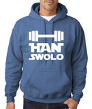 Han Swalo Men Hoodies White-Gildan-Daataadirect.co.uk