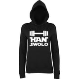 "Han Swalo Women Hoodies White-Hoodies-AWD-Black-XS UK 8 Euro 32 Bust 30""-Daataadirect"