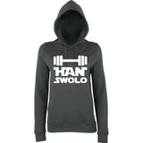 "Han Swalo Women Hoodies White-Hoodies-AWD-Charcoal-XS UK 8 Euro 32 Bust 30""-Daataadirect"