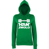 "Han Swalo Women Hoodies White-Hoodies-AWD-Kelly Green-XS UK 8 Euro 32 Bust 30""-Daataadirect"