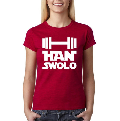 Han Swalo Women T Shirt White-Gildan-Daataadirect.co.uk
