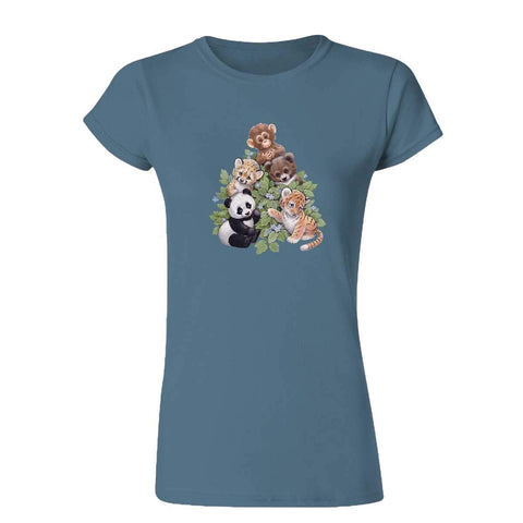 Happy Animal Group 20202HD6 Womens T Shirt-Gildan-Daataadirect.co.uk