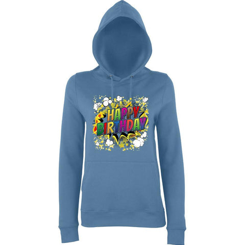 "Happy Birthday Party Colorful Women Hoodies-Hoodies-AWD-Airforce Blue-XS UK 8 Euro 32 Bust 30""-Daataadirect"