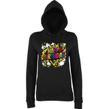 "Happy Birthday Party Colorful Women Hoodies-Hoodies-AWD-Black-XS UK 8 Euro 32 Bust 30""-Daataadirect"