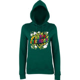 "Happy Birthday Party Colorful Women Hoodies-Hoodies-AWD-Bottle Green-XS UK 8 Euro 32 Bust 30""-Daataadirect"