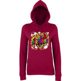 "Happy Birthday Party Colorful Women Hoodies-Hoodies-AWD-Burgundy-XS UK 8 Euro 32 Bust 30""-Daataadirect"