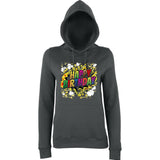 "Happy Birthday Party Colorful Women Hoodies-Hoodies-AWD-Charcoal-XS UK 8 Euro 32 Bust 30""-Daataadirect"