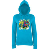 "Happy Birthday Party Colorful Women Hoodies-Hoodies-AWD-Hawaiian Blue-XS UK 8 Euro 32 Bust 30""-Daataadirect"