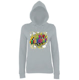 "Happy Birthday Party Colorful Women Hoodies-Hoodies-AWD-Heather Grey-XS UK 8 Euro 32 Bust 30""-Daataadirect"
