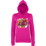 "Happy Birthday Party Colorful Women Hoodies-Hoodies-AWD-Hot Pink-XS UK 8 Euro 32 Bust 30""-Daataadirect"