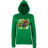"Happy Birthday Party Colorful Women Hoodies-Hoodies-AWD-Kelly Green-XS UK 8 Euro 32 Bust 30""-Daataadirect"