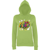 "Happy Birthday Party Colorful Women Hoodies-Hoodies-AWD-Lime Green-XS UK 8 Euro 32 Bust 30""-Daataadirect"