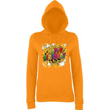 "Happy Birthday Party Colorful Women Hoodies-Hoodies-AWD-Orange Crush-XS UK 8 Euro 32 Bust 30""-Daataadirect"