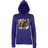 "Happy Birthday Party Colorful Women Hoodies-Hoodies-AWD-Purple-XS UK 8 Euro 32 Bust 30""-Daataadirect"