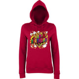 "Happy Birthday Party Colorful Women Hoodies-Hoodies-AWD-Red Hot Chilli-XS UK 8 Euro 32 Bust 30""-Daataadirect"