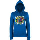 "Happy Birthday Party Colorful Women Hoodies-Hoodies-AWD-Royal Blue-XS UK 8 Euro 32 Bust 30""-Daataadirect"