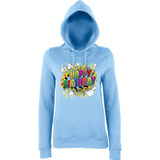 "Happy Birthday Party Colorful Women Hoodies-Hoodies-AWD-Sky Blue-XS UK 8 Euro 32 Bust 30""-Daataadirect"