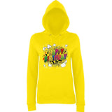 "Happy Birthday Party Colorful Women Hoodies-Hoodies-AWD-Sun Yellow-XS UK 8 Euro 32 Bust 30""-Daataadirect"