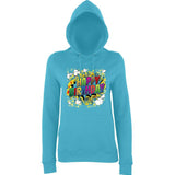 "Happy Birthday Party Colorful Women Hoodies-Hoodies-AWD-Turquoise Surf-XS UK 8 Euro 32 Bust 30""-Daataadirect"