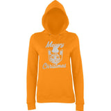 Happy Christmas Merry Cheistmas Cat Women Hoodies Silver-AWD-Daataadirect.co.uk