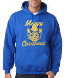 "Happy Christmas Merry Christmas Cat Men Hoodies Gold-Hoodies-Gildan-Royal Blue-S To Fit Chest 36-38"" (91-96cm)-Daataadirect"