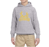 Happy Christmas Merry Christmas Kids Hoodie Gold-Hoodies-Gildan-Sport Grey-YS (5-6 Year)-Daataadirect