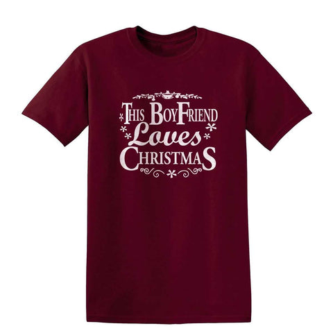 Happy Christmas This Boy Friend Loves Christmas Mens T-Shirt-Gildan-Daataadirect.co.uk