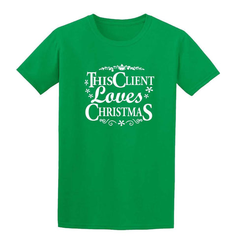 Happy Christmas This Client Loves Christmas Kids T Shirts-Gildan-Daataadirect.co.uk