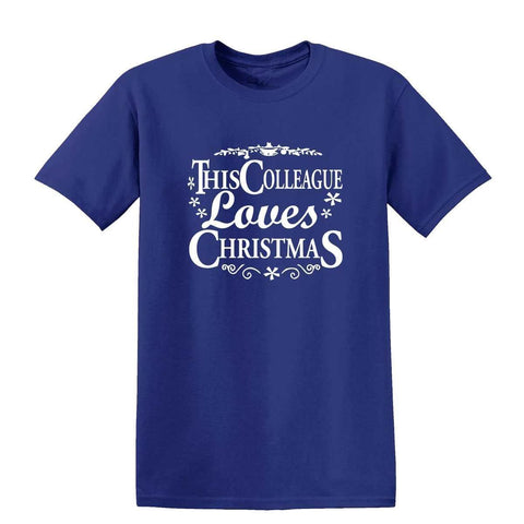 Happy Christmas This Colleague Loves Christmas Kids T Shirts-Gildan-Daataadirect.co.uk