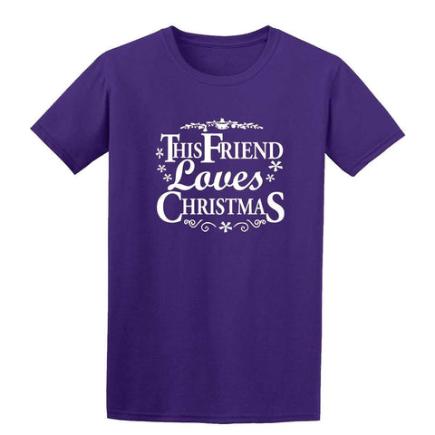 Happy Christmas This Friend Loves Christmas Kids T Shirts-Gildan-Daataadirect.co.uk