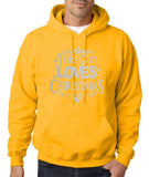 "Happy Christmas This Guy Loves Christmas Men Hoodies Silver-Hoodies-Gildan-Gold-S To Fit Chest 36-38"" (91-96cm)-Daataadirect"