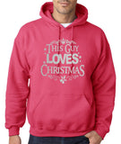 "Happy Christmas This Guy Loves Christmas Men Hoodies Silver-Hoodies-Gildan-Heliconia-S To Fit Chest 36-38"" (91-96cm)-Daataadirect"