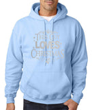 "Happy Christmas This Guy Loves Christmas Men Hoodies Silver-Hoodies-Gildan-Light Blue-S To Fit Chest 36-38"" (91-96cm)-Daataadirect"