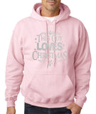 "Happy Christmas This Guy Loves Christmas Men Hoodies Silver-Hoodies-Gildan-Light pink-S To Fit Chest 36-38"" (91-96cm)-Daataadirect"