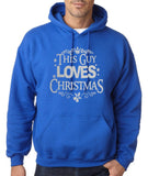 "Happy Christmas This Guy Loves Christmas Men Hoodies Silver-Hoodies-Gildan-Royal Blue-S To Fit Chest 36-38"" (91-96cm)-Daataadirect"