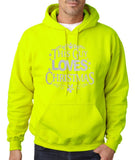 "Happy Christmas This Guy Loves Christmas Men Hoodies Silver-Hoodies-Gildan-Safety Green-S To Fit Chest 36-38"" (91-96cm)-Daataadirect"