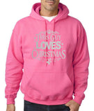 "Happy Christmas This Guy Loves Christmas Men Hoodies Silver-Hoodies-Gildan-Safety Pink-S To Fit Chest 36-38"" (91-96cm)-Daataadirect"