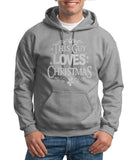 "Happy Christmas This Guy Loves Christmas Men Hoodies Silver-Hoodies-Gildan-Sport Grey-S To Fit Chest 36-38"" (91-96cm)-Daataadirect"