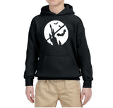 Happy Halloween Bat Kids Hoodies-Hoodies-Gildan-Black-YS (5-6 Year)-Daataadirect