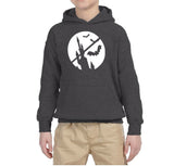 Happy Halloween Bat Kids Hoodies-Hoodies-Gildan-Dark Heather-YS (5-6 Year)-Daataadirect