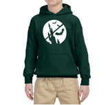 Happy Halloween Bat Kids Hoodies-Hoodies-Gildan-Forest Green-YS (5-6 Year)-Daataadirect
