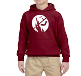 Happy Halloween Bat Kids Hoodies-Hoodies-Gildan-Garnet-YS (5-6 Year)-Daataadirect